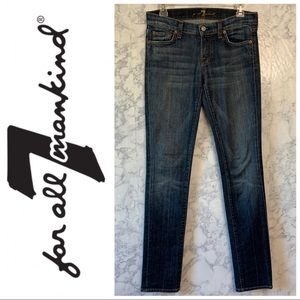 7 For All Mankind • Skinny Jeans Sz 26